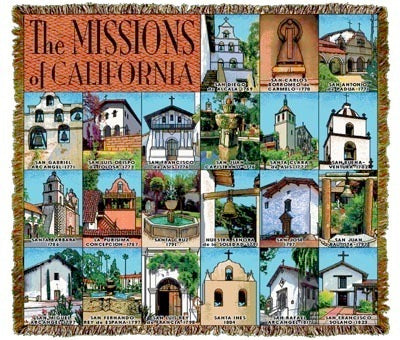 California Missions Coverlet