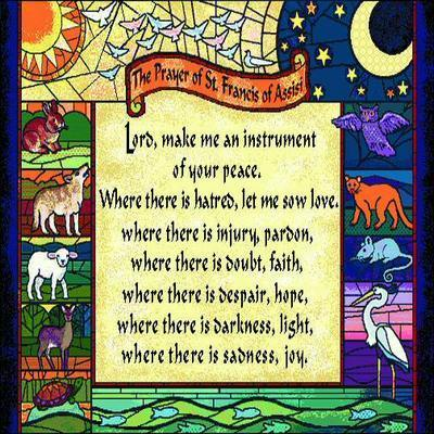 Prayer of St. Francis Pillow