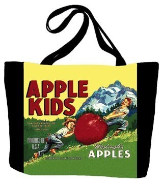 Apple Kids Tote Bag
