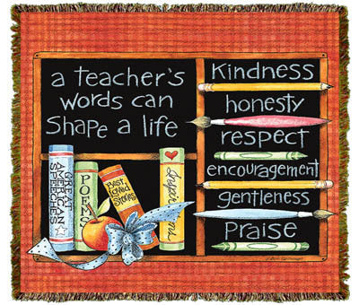 A Teacher's Words Coverlet