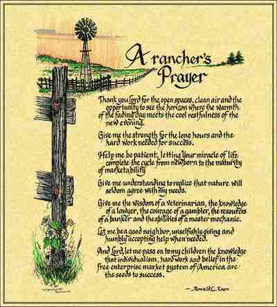 Rancher's Prayer Coverlet ©Ron Knox