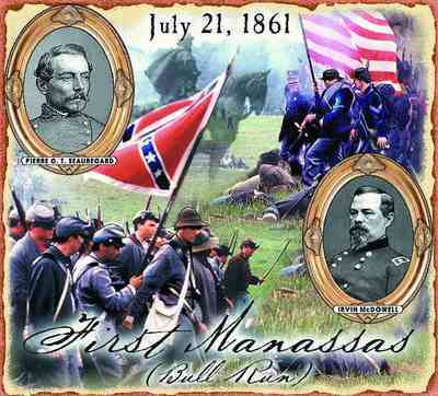 First Manassas Battle Coverlet