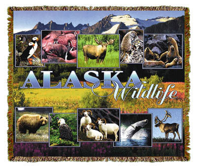 Alaska Wildlife Coverlet