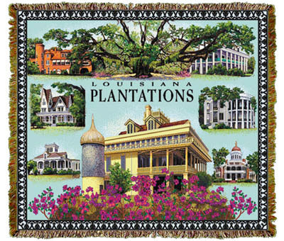 Louisiana Plantations Coverlet