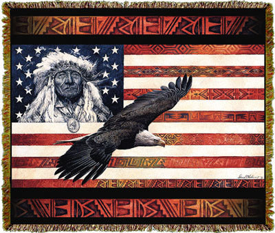 Native American Spirit of America Coverlet