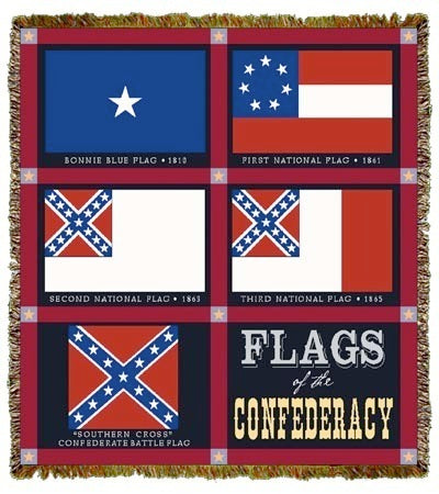 Confederate Flag Coverlet