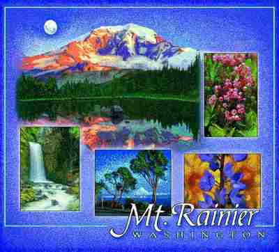 Mount Rainier, WA Coverlet
