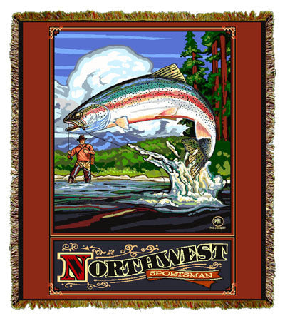 Northwest Sportsman by Paul A. Lanquist Coverlet