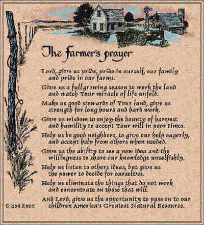 Farmer's Prayer Coverlet ©Ron Knox