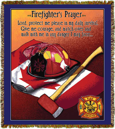Firefighter Prayer Canadian Coverlet