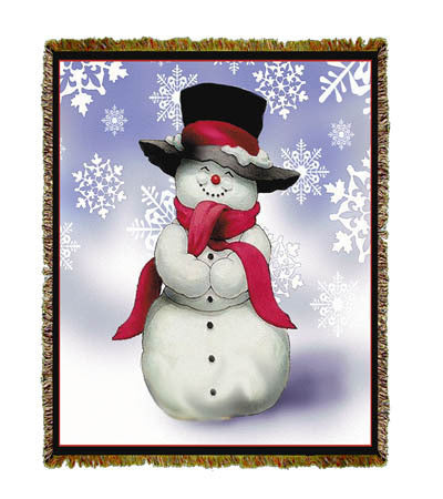 Holiday Smilin' Snowman Coverlet