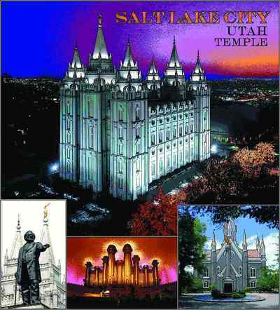 Mormon Temple Salt Lake UT Coverlet