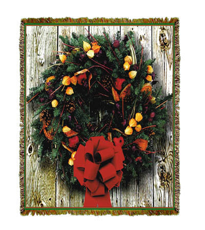 Holiday Wreath Coverlet