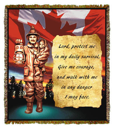 Quiet Strength Statue Canadian Coverlet