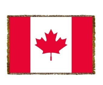 Canadian Flag Mini Coverlet