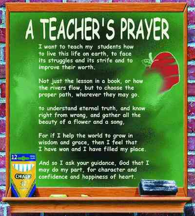 Teacher's Prayer Coverlet