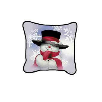 Holiday Smilin' Snowman Pillow