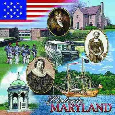 Maryland Historic Pillow