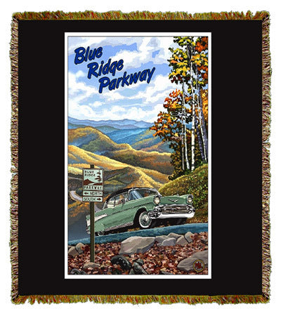 Blue Ridge Parkway by Paul Lanquist Throw