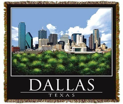 Dallas Skyline Coverlet