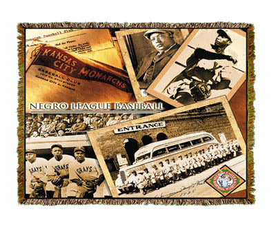 NLBM Negro League Baseball History Coverlet
