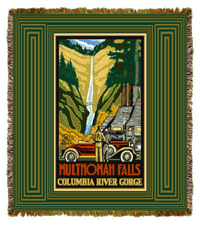 Multnomah Falls by Paul A. Lanquist Coverlet