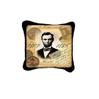 Abraham Lincoln Jacquard Woven Decorative Pillow Cover