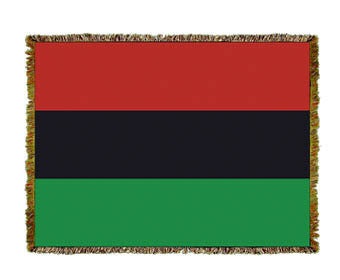 African American Flag Throw Blanket