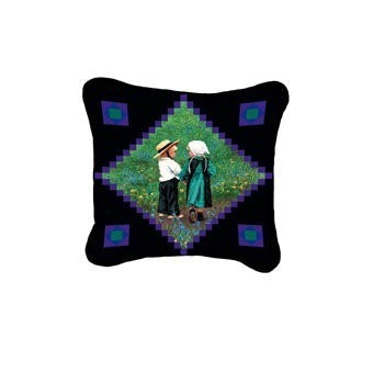 Amish Children Decorative Pillow