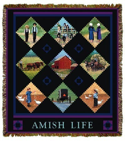 Amish Life Throw Blanket