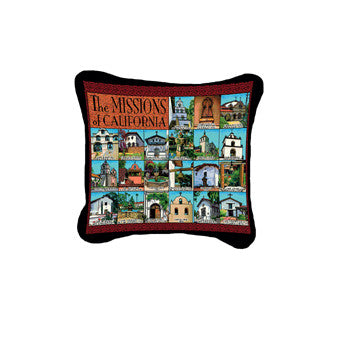 California Missions Decorative Pillow