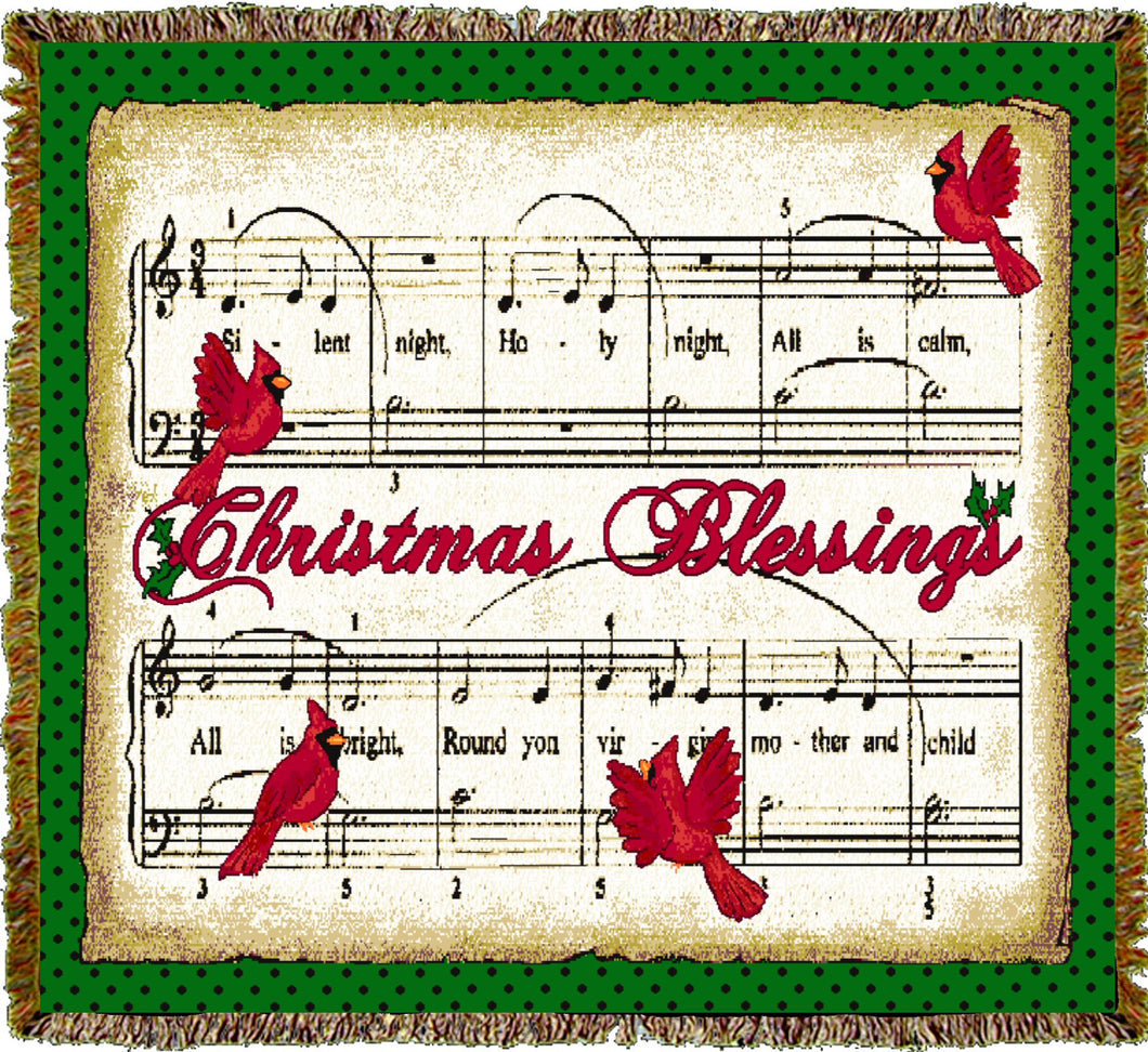 Christmas Blessings Throw Blanket