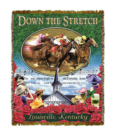 Down The Stretch Throw Blanket