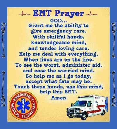 EMT Prayer Throw Blanket