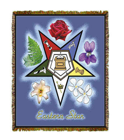 Eastern Star Masonic Symbol Throw Blanket