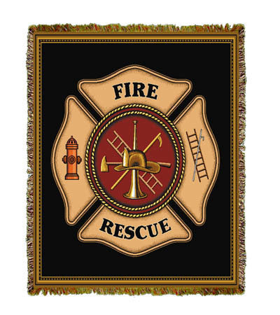 Firefighter Shield Throw Blanket
