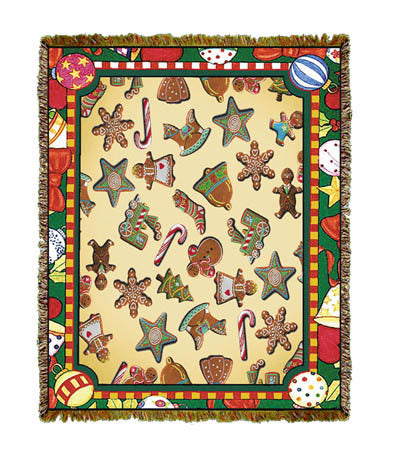Holiday Gingerbread Men Throw Blanket