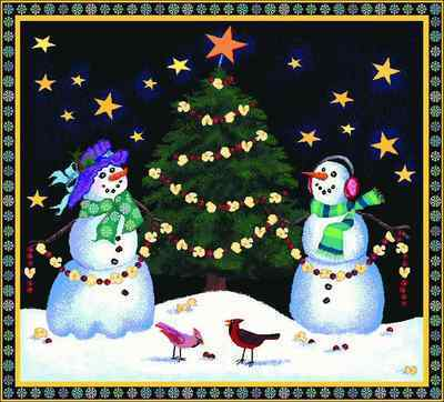Holiday Snowmen Throw Blanket