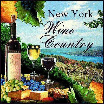 New York Wine Country Decorative Pillow