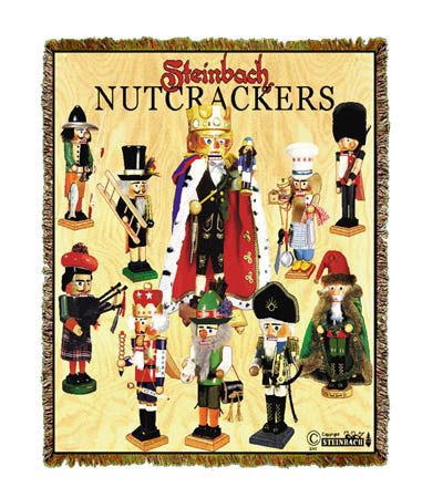 Nutcrackers Steinbach Throw Blanket