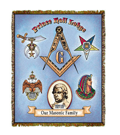 Prince Hall Lodge Throw Blanket