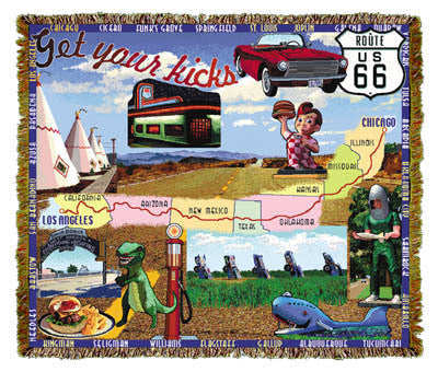 ROUTE 66 Throw Blanket