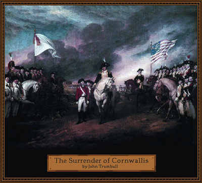 Surrender Of Cornwallis Throw Blanket