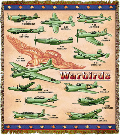 Warbirds Throw Blanket