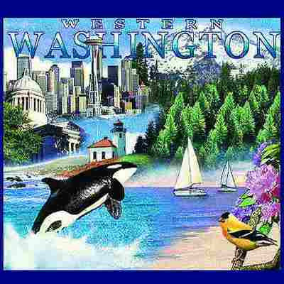 Washington State Western Tote Bag