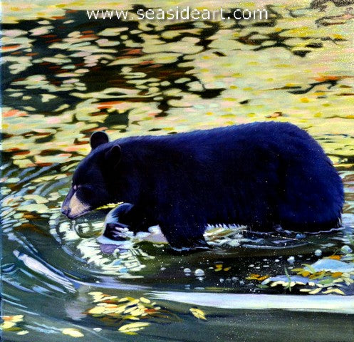 Bear Necessities is an original oil painting by Kelly McNeil.