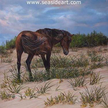 Corolla Stallion is an original oil painting by Karla Mann