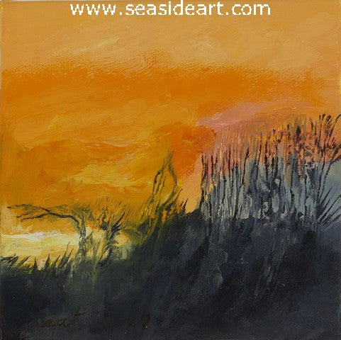 The Hills at Sunset is an oil painting by Liat Polotsky, artist