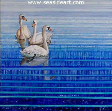 Airlie Swans an original oil painting by Lee Mims