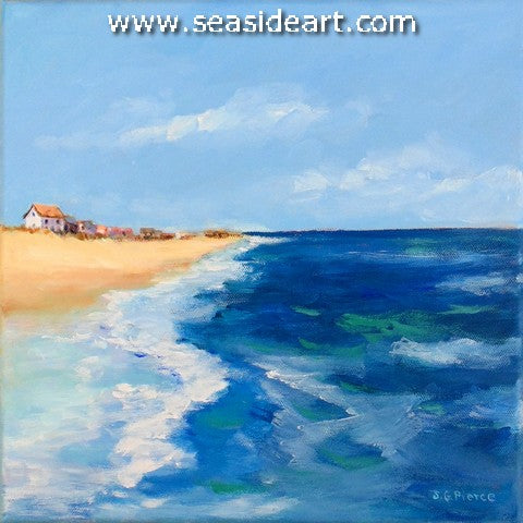 Busy Surf is an oil painting by Outer Banks artist, Janet Pierce